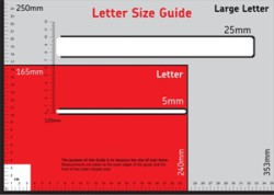 Royal Mail Size Template